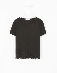 Camiseta negra con troquelado (lefties)